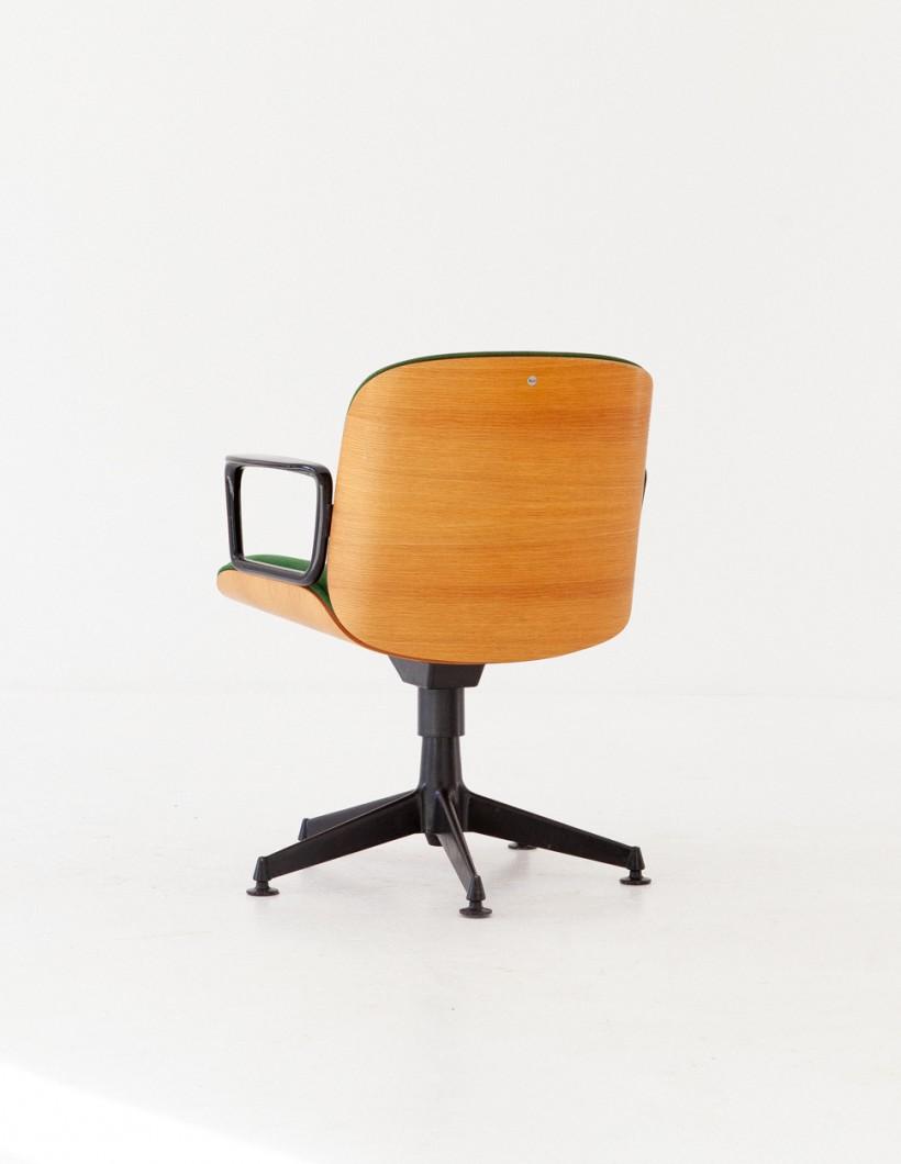 Italian Swivel Armchair by Ico Parisi for MIM Roma, 1960s SE278