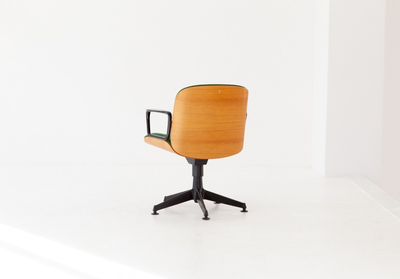 Italian Swivel Armchair by Ico Parisi for MIM Roma, 1960s SE278