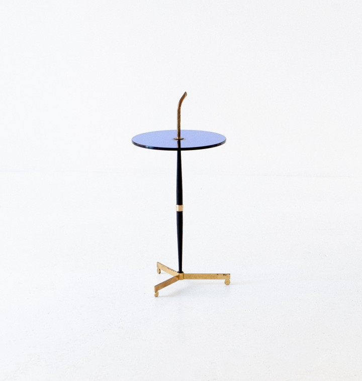 1950s Italian Blue glass and brass coffee table T77 – No longer available..