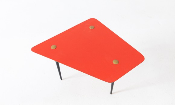 Italian Mid-Century Modern Red Coffee Table , 1950s  T79