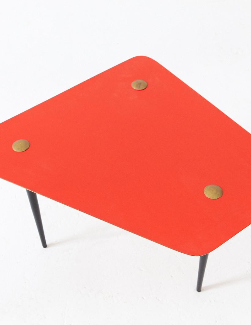 Italian Mid-Century Modern Red Coffee Table , 1950s  T79 -NOT AVAILABLE