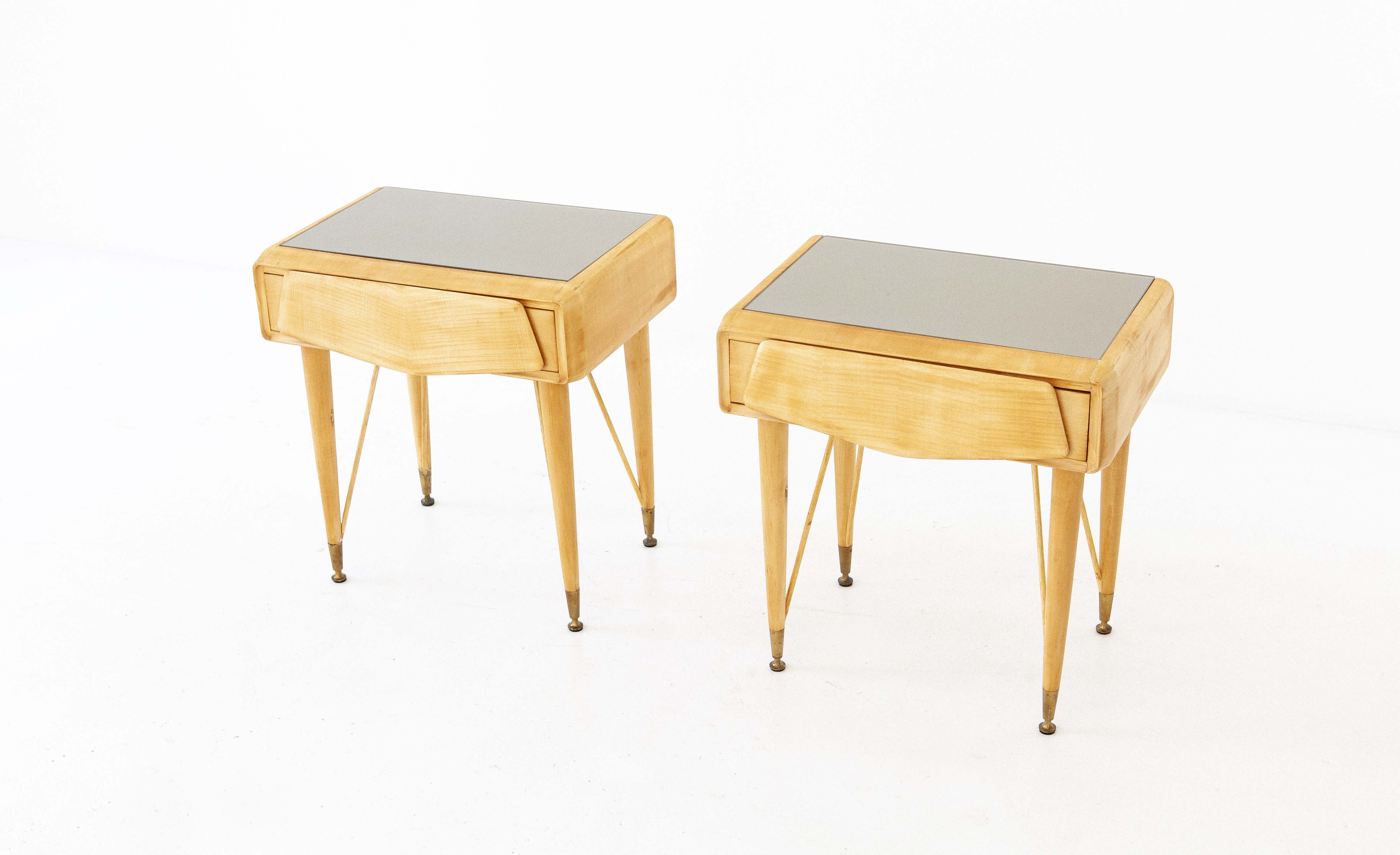 italian-mable-wood-glass-brass-bedside-tables-1-BT77