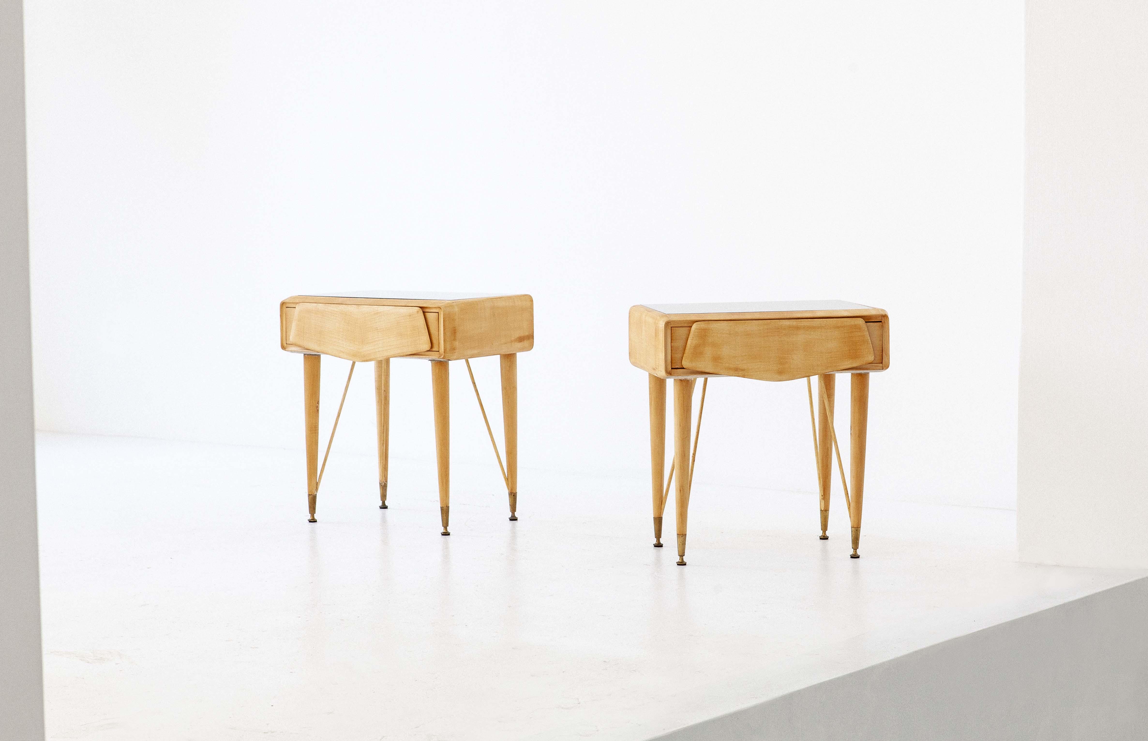 italian-mable-wood-glass-brass-bedside-tables-2-BT77