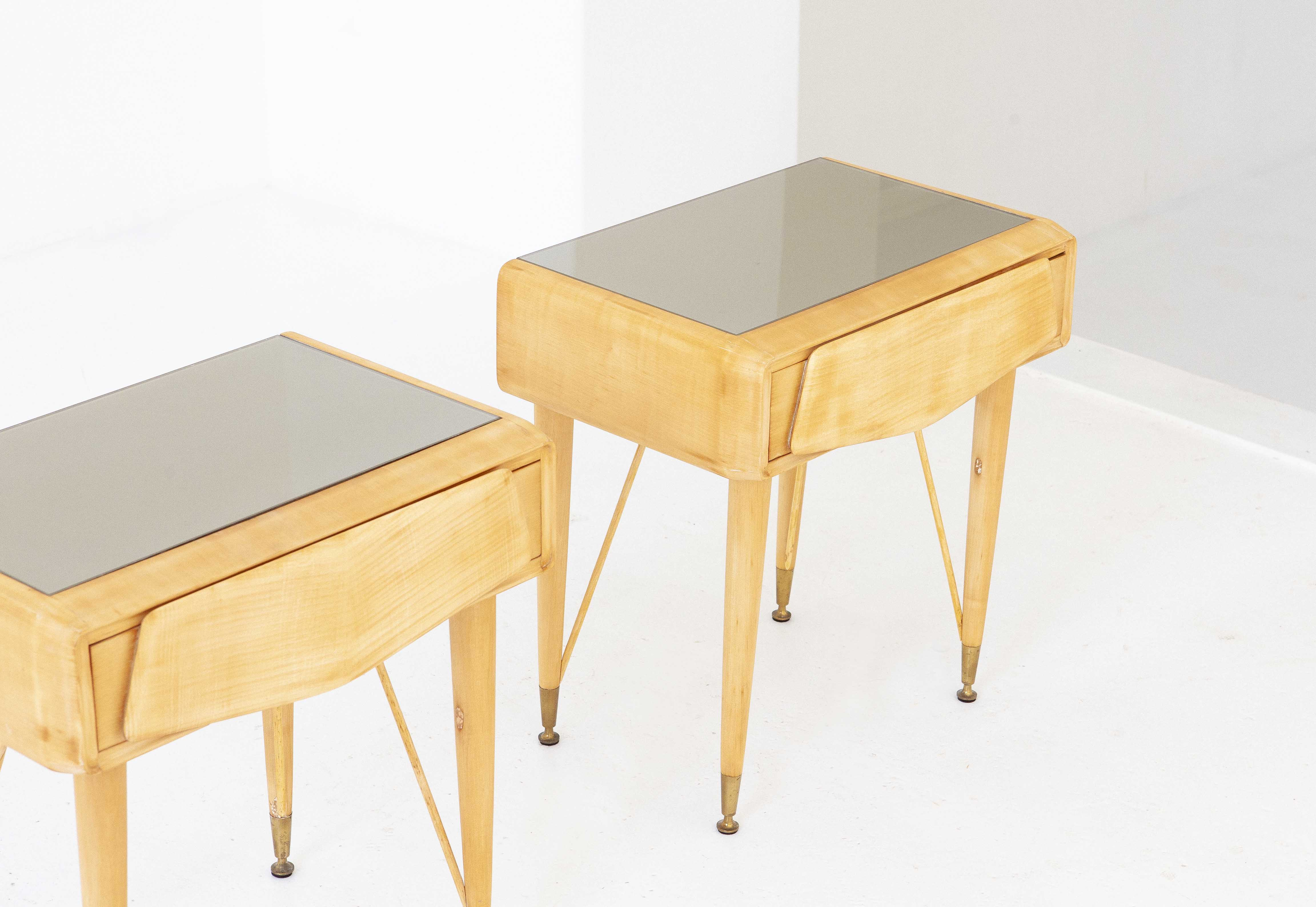 italian-mable-wood-glass-brass-bedside-tables-3-BT77