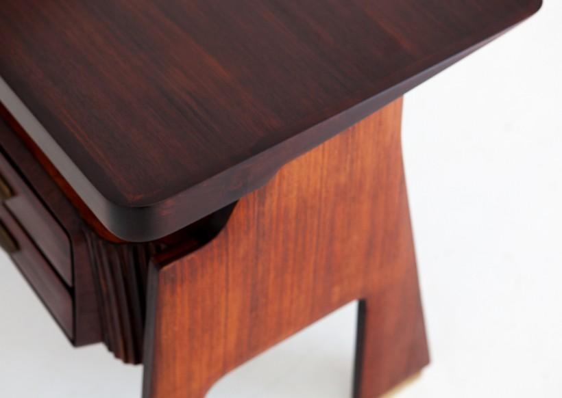 1950s Italian Rosewood Desk Table by Dassi  DT28