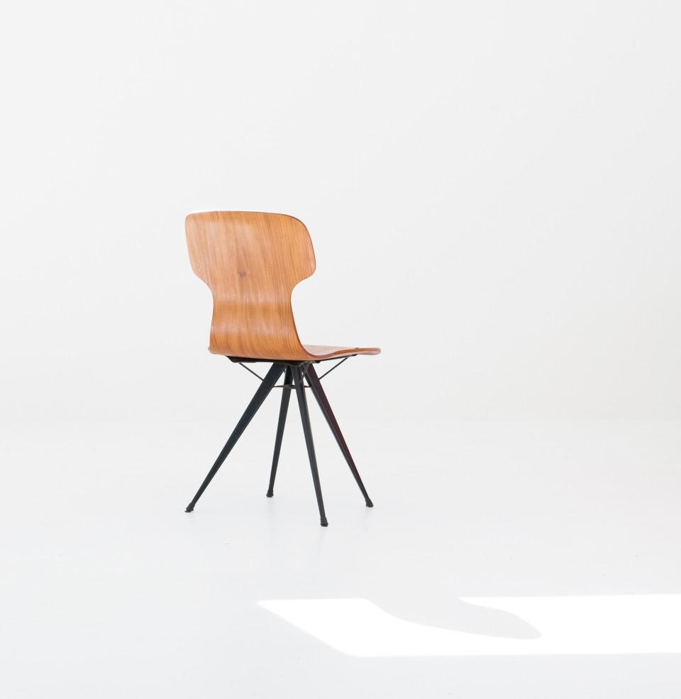italian-curved-teak-conical-iron-legs-chair-SE282