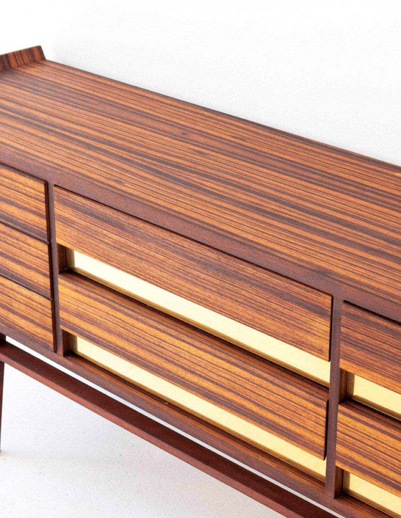 Italian Rosewood and Brass Sideboard with Drawers  ST112 – Not available..