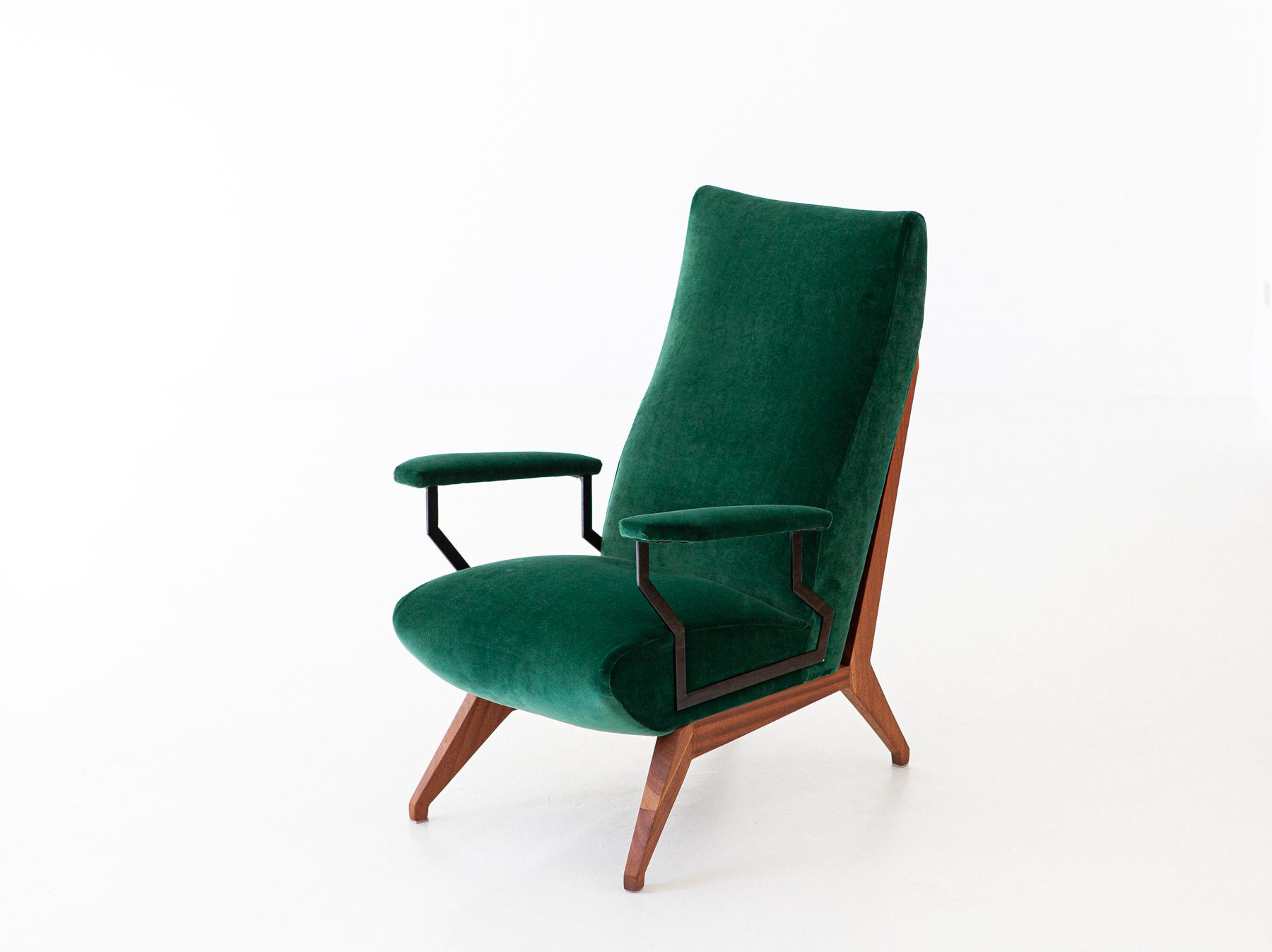 1950s-green-velvet-mahogany-italian-armchair-1-se290