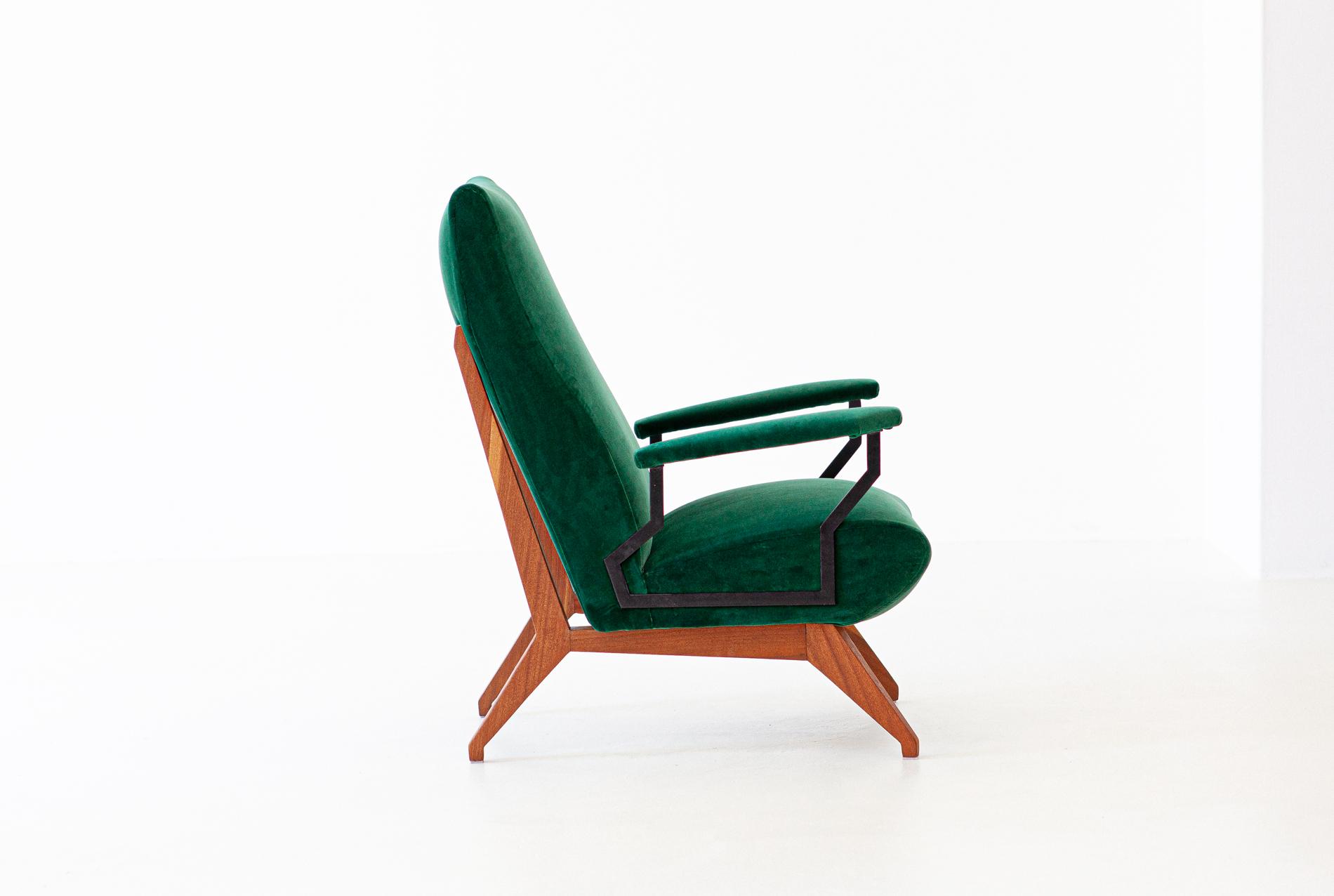 1950s-green-velvet-mahogany-italian-armchair-3-se290