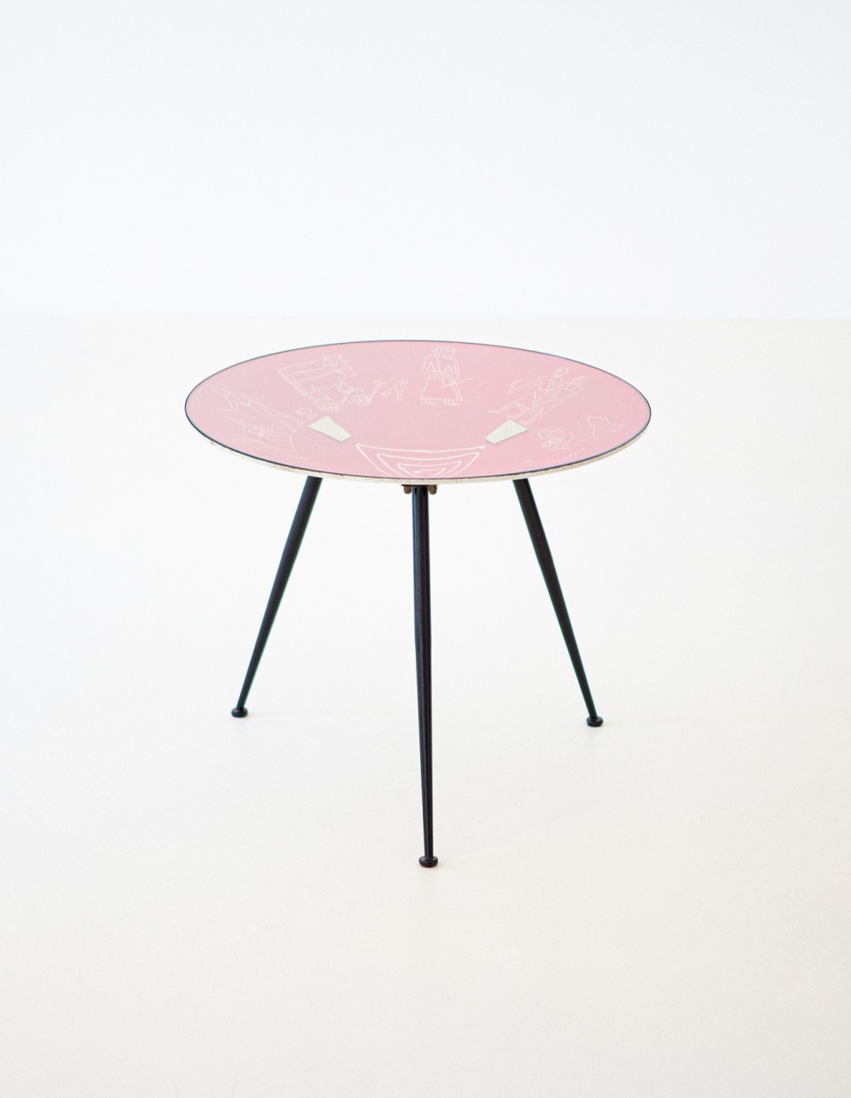 1950s Italian modern round coffee Table  T82 – No longer available