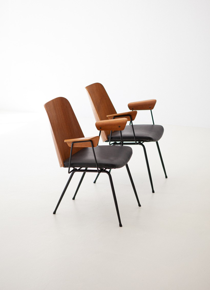 1950s Italian model Du22 Armchairs by Gastone Rinaldi for Rima SE287