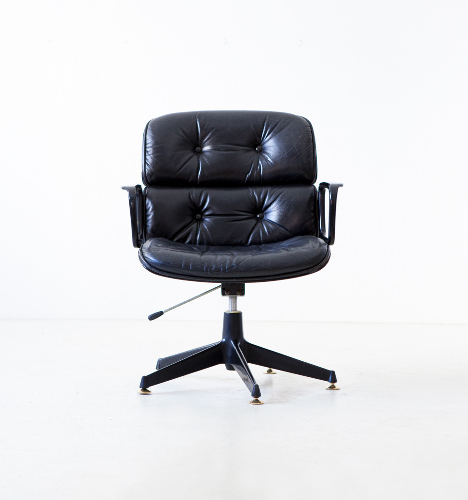 Fully Restored Executive Desk Chair by Ico Parisi for MIM Roma SE336