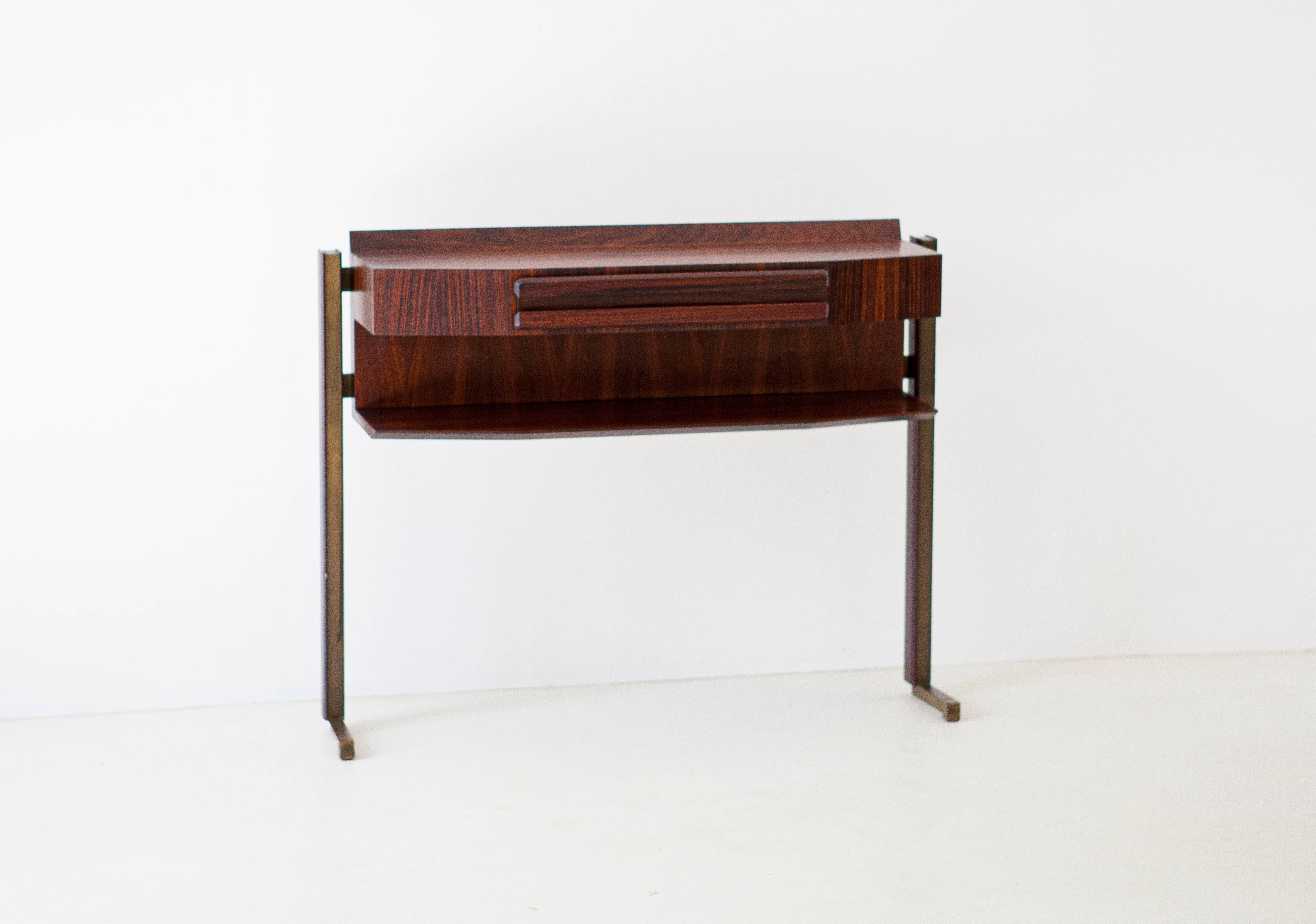 Italian-modern-rosewood-and-brass-console-table-2-of92