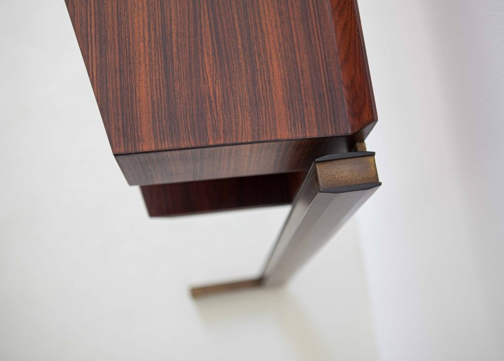 Italian modern rosewood and brass console table OF92 – No longer available..