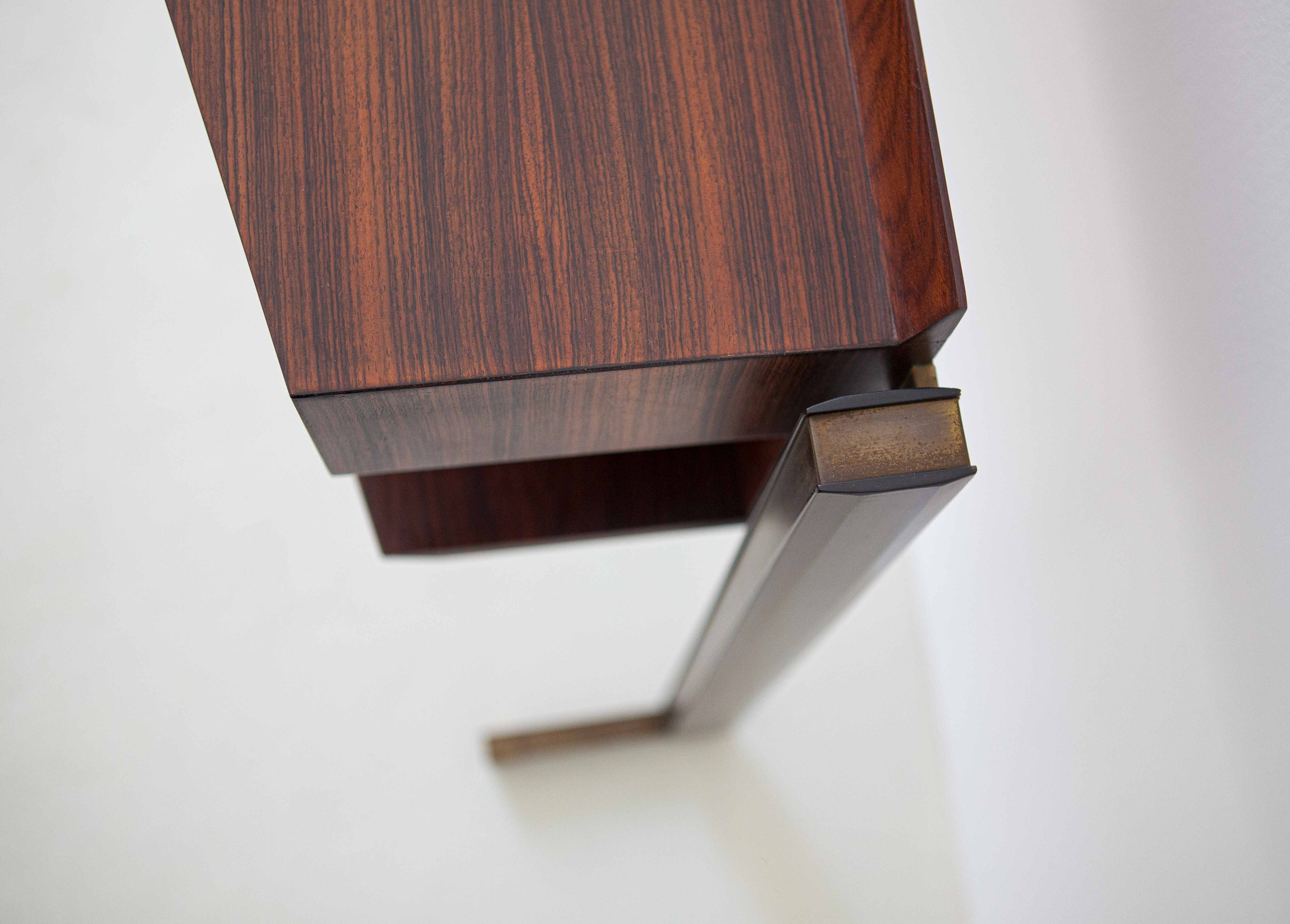 Italian-modern-rosewood-and-brass-console-table-3-of92
