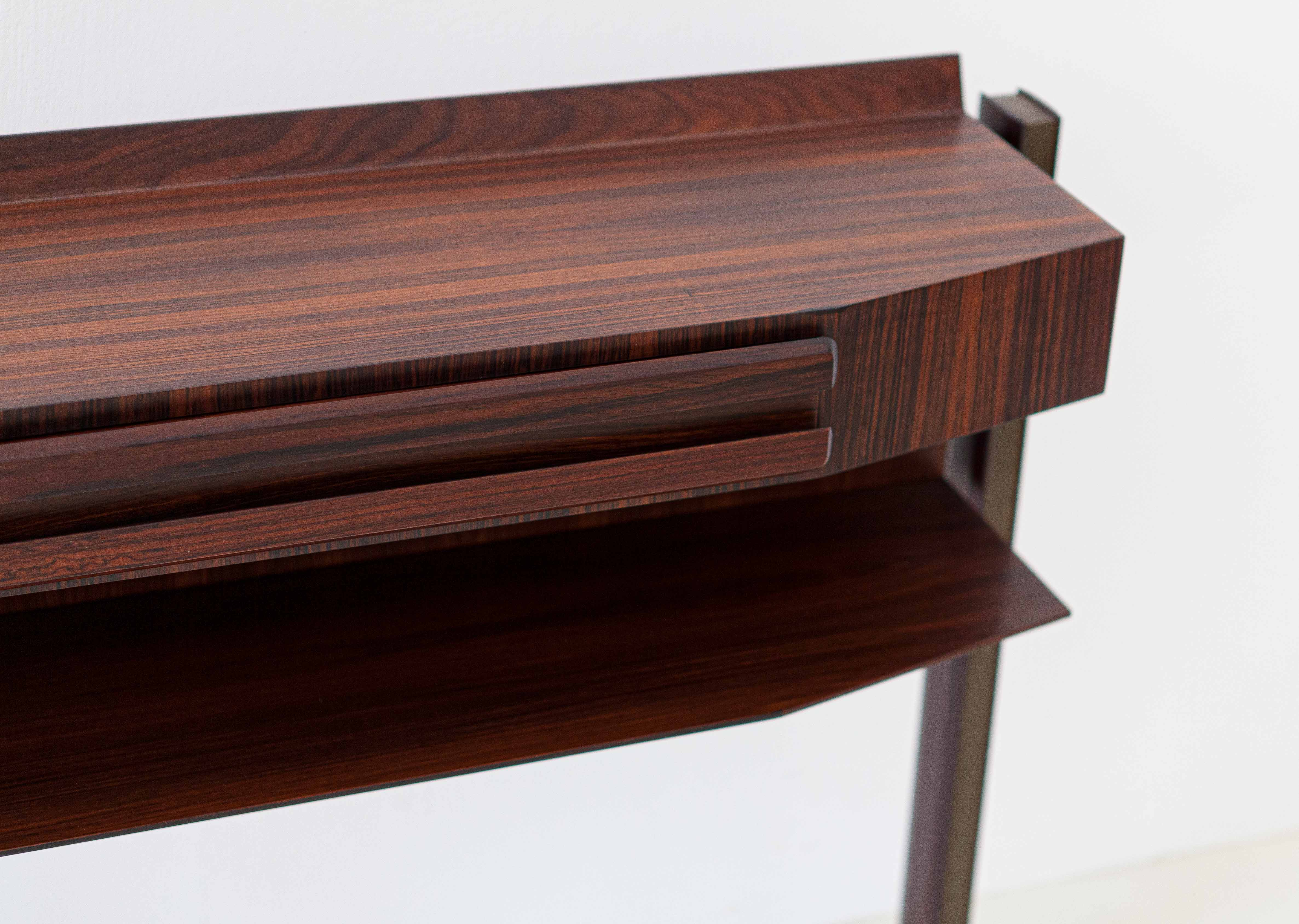Italian-modern-rosewood-and-brass-console-table-6-of92