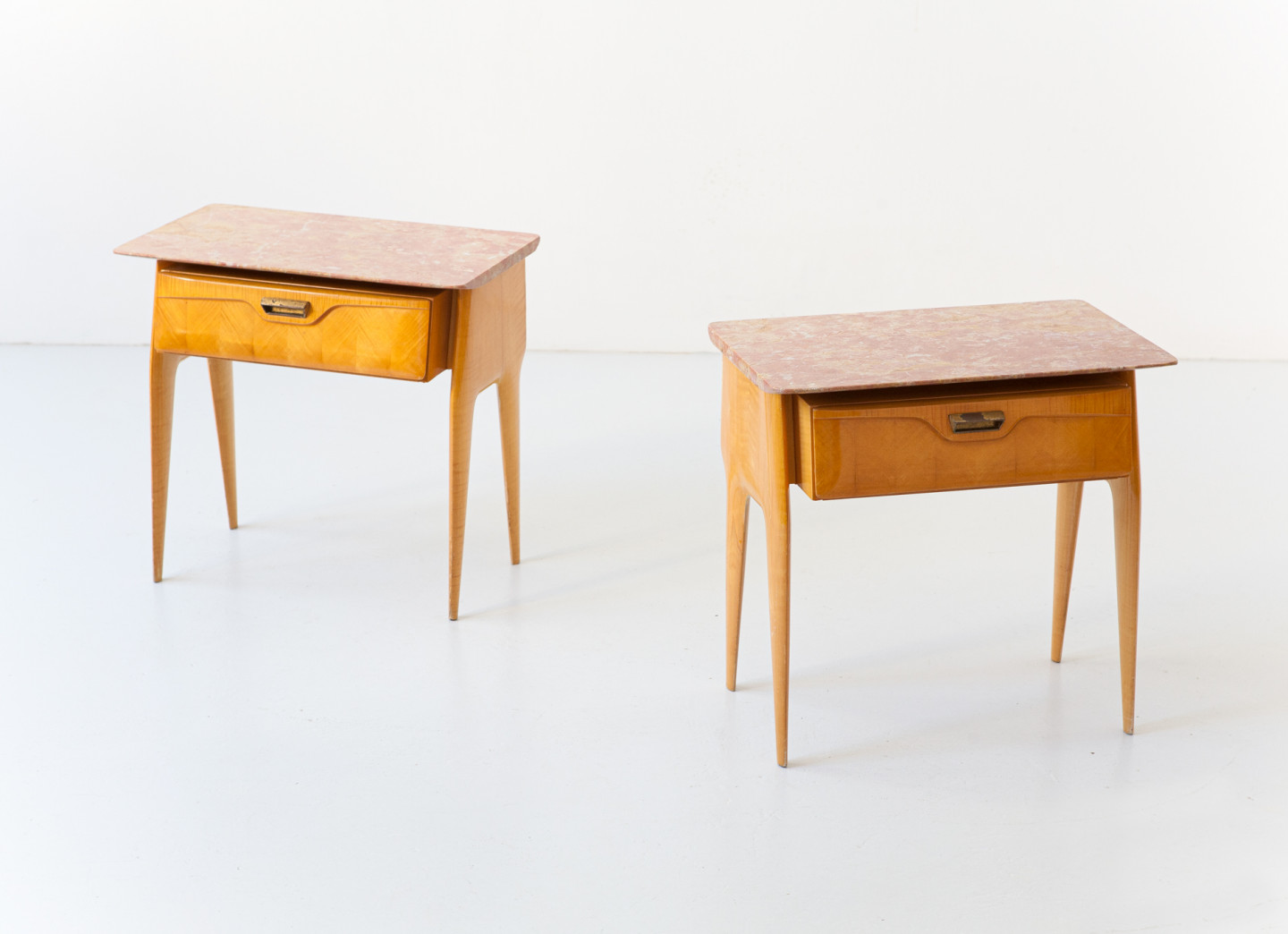 Pair of Bedside Tables with Sculptural Shape , 1950s BT99