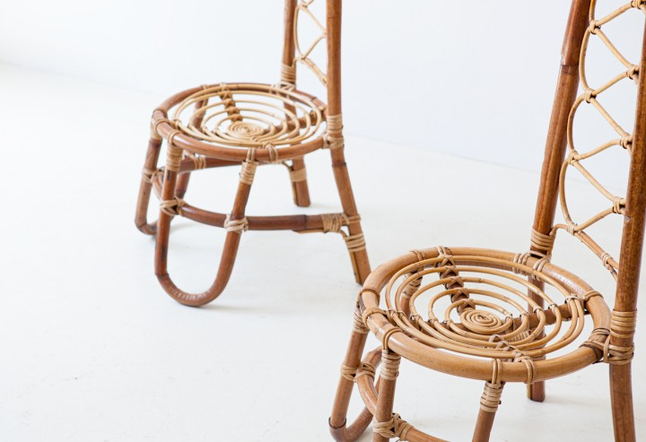Set of four rattan chairs SE334