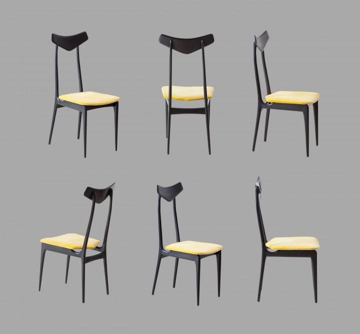 Set of six italian chairs SE325 – No longer available