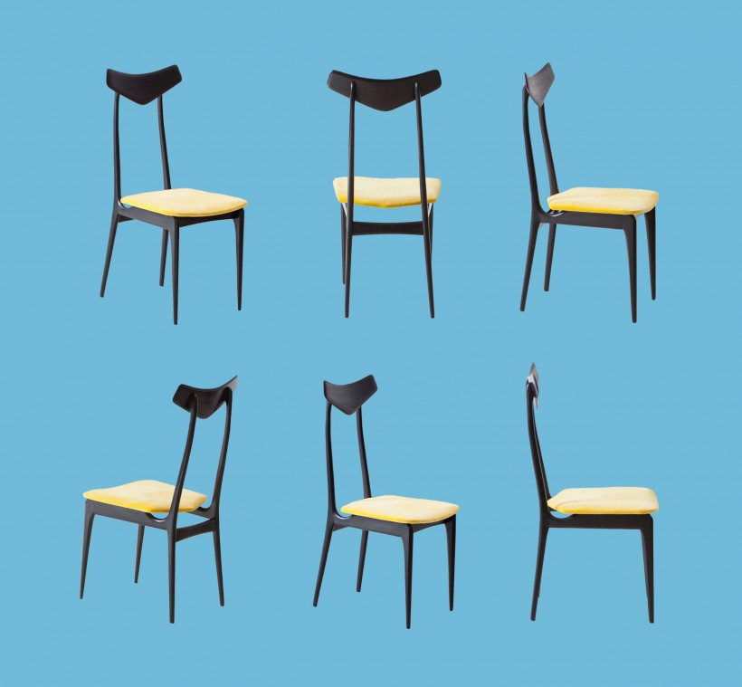 Set of six italian chairs SE325