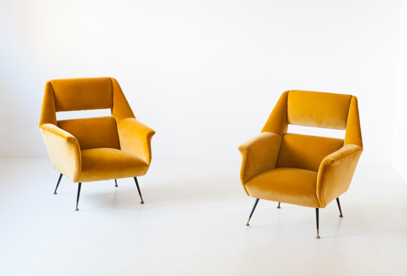 Pair of Gigi Radice armchairs ,1950s SE319