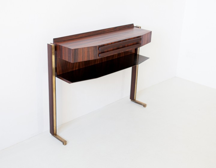 Italian rosewood and brass console table OF98 – Not Available
