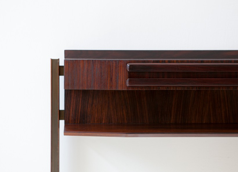 Italian rosewood and brass console table OF104